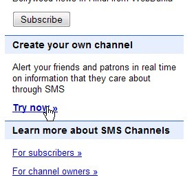 Rss Feeds TO SMS via Google SMS Channel 1001-tricks
