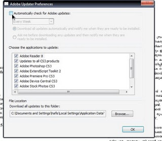 how to turn off java auto updater