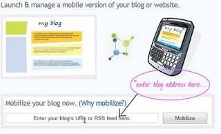 make wap version of your blog/website