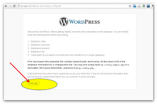 wordpress setup page 2