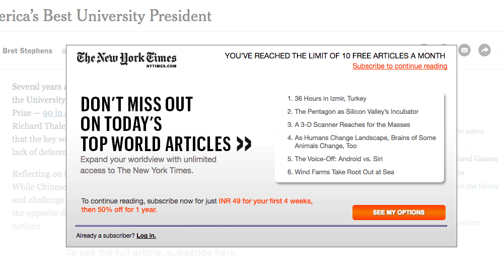 Trick to Bypass Nytimes Paywall for Free